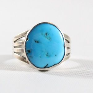 Jewelry - NAVAJO Sterling Silver Turquoise Ring 7.5